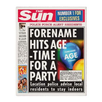 The Sun Personalised Birthday Newspaper